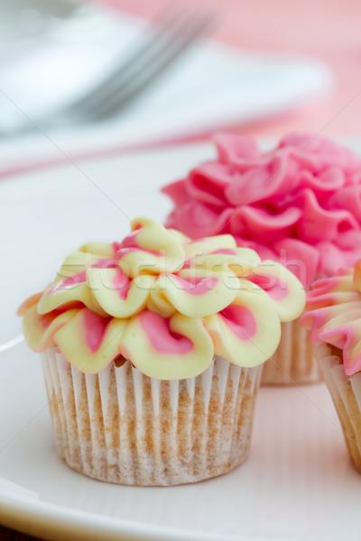 Mini fleur décoré rose jaune Photo stock © RuthBlack