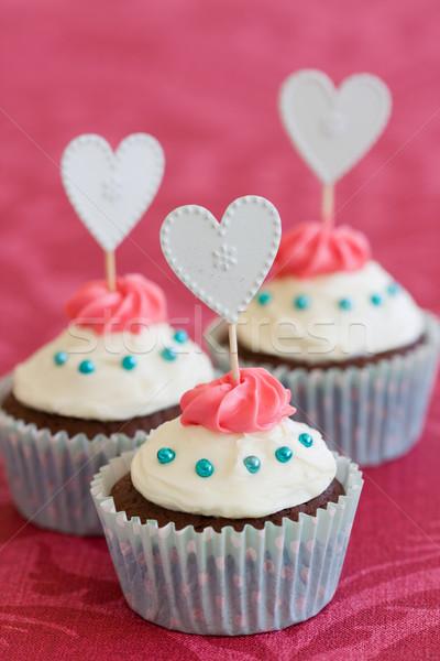Valentine cupcakes Stock photo © RuthBlack