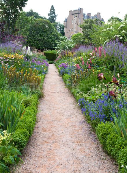城 スコットランド 中世 セット 美しい 庭園 ストックフォト © RuthBlack