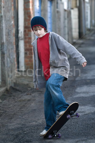 Boy skateboarding Stock photo © RuthBlack