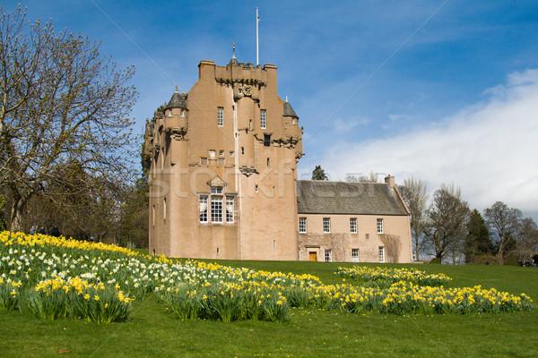 Zamek Szkocji średniowiecznej kwiaty budynku Zdjęcia stock © RuthBlack