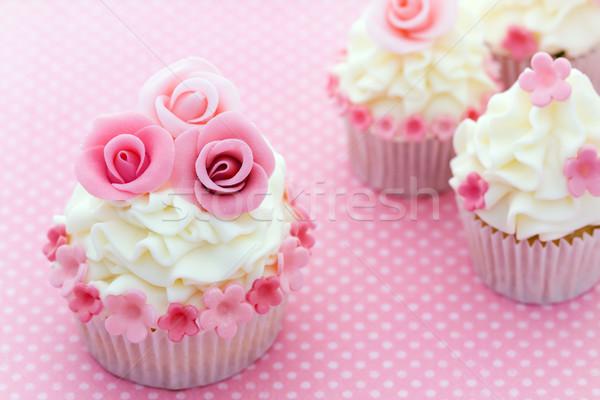 Foto d'archivio: Rosa · decorato · rosa · zucchero · rose