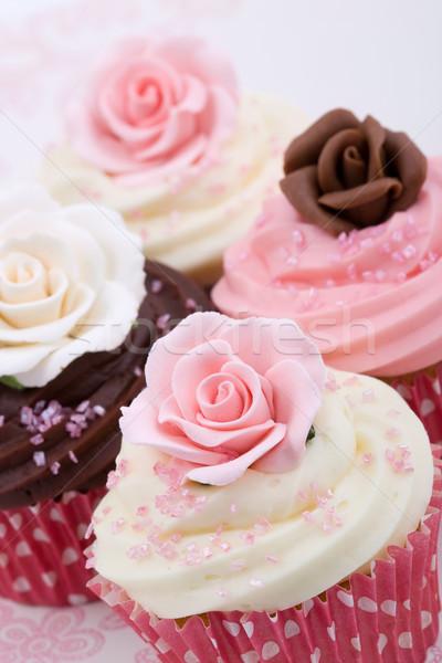 Mariage décoré sucre roses fleurs Photo stock © RuthBlack