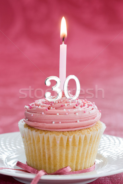 Thirtieth birthday cupcake Stock photo © RuthBlack