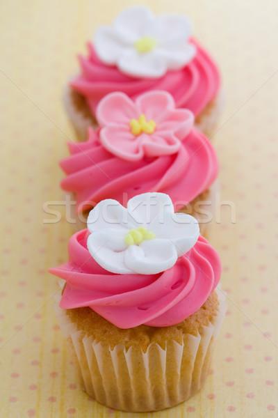 Mini fleur décoré rose fleurs blanches Photo stock © RuthBlack