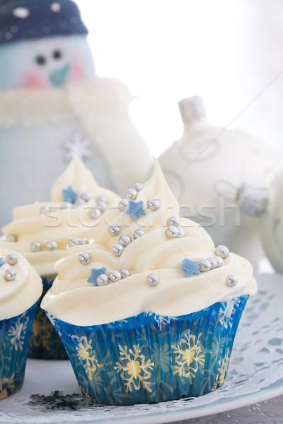 Christmas cupcakes Stock photo © RuthBlack
