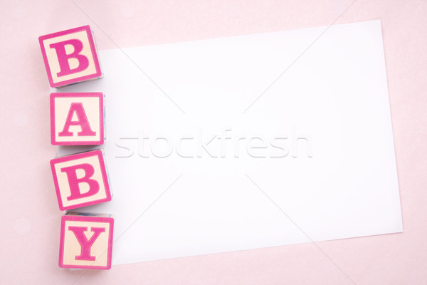 Blank baby announcement Stock photo © RuthBlack