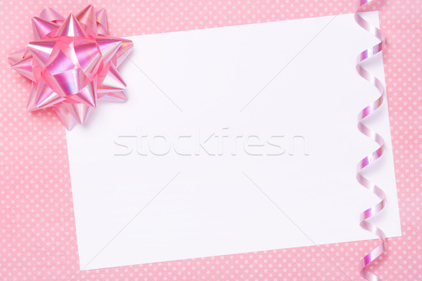 Blank party invite or gift tag Stock photo © RuthBlack