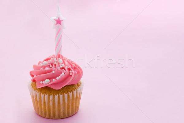 Anniversaire mini espace de copie gâteau bougie Photo stock © RuthBlack