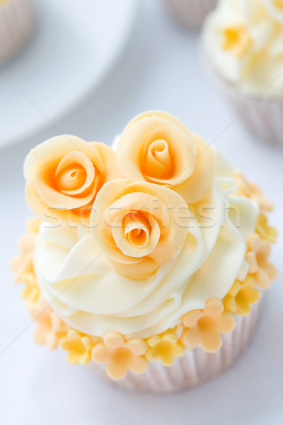 Stock photo: Wedding cupcake
