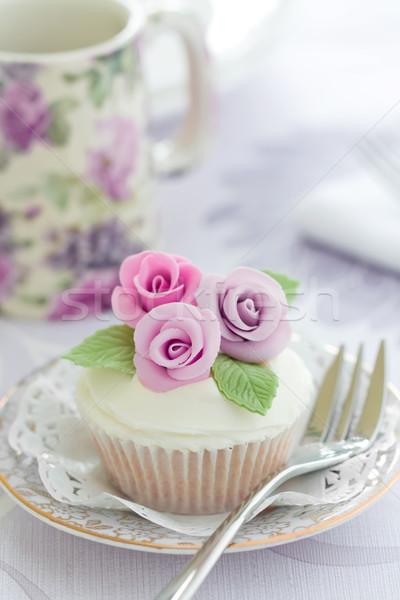 Purple rose cupcake Stock photo © RuthBlack