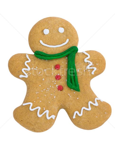 Колобок улыбаясь шарф Кнопки улыбка человека Сток-фото © RuthBlack