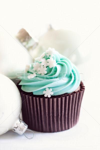 Рождества украшенный сахар торт Сток-фото © RuthBlack