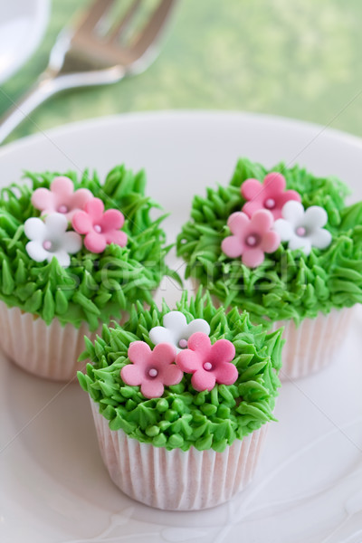 Flower garden cakes Stock photo © RuthBlack