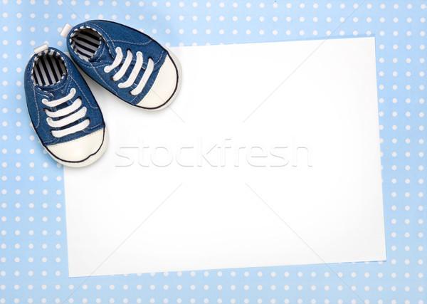 Photo stock: Nouvelle · bébé · annonce · carte · vierge · fête