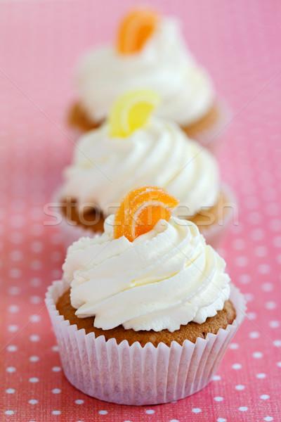 Orange citron à pois nappe domaine Photo stock © RuthBlack