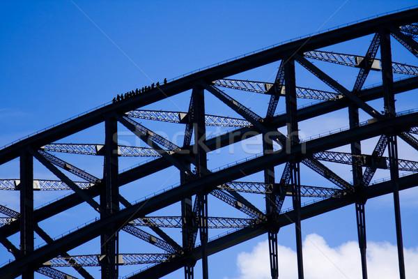 Sydney puerto puente cielo azul cielo grupo Foto stock © RuthBlack