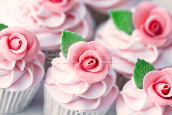 Foto stock: Casamento · decorado · rosa · raio · rosas