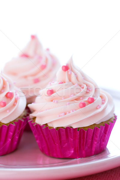 Pastel pink cupcakes Stock photo © RuthBlack