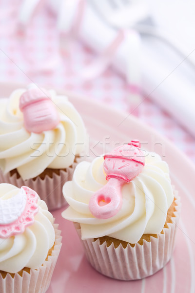 Cupcakes for a baby shower Stock photo © RuthBlack