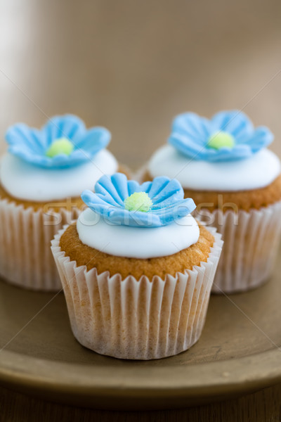 Mini flower cupcakes Stock photo © RuthBlack