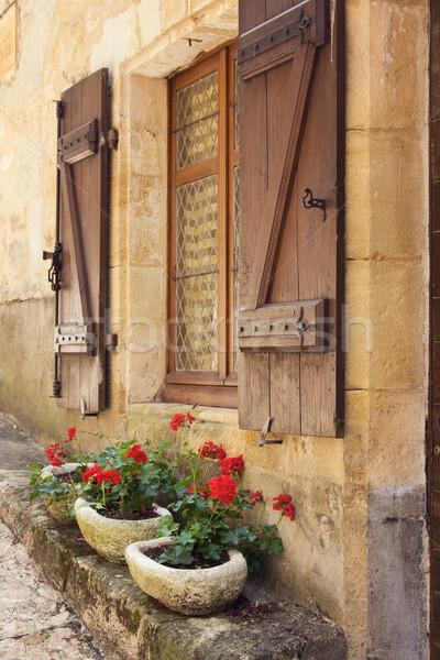Mediterranean window boxes Stock photo © RuthBlack