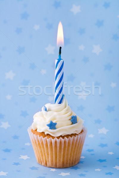Foto d'archivio: Compleanno · mini · blu · torta