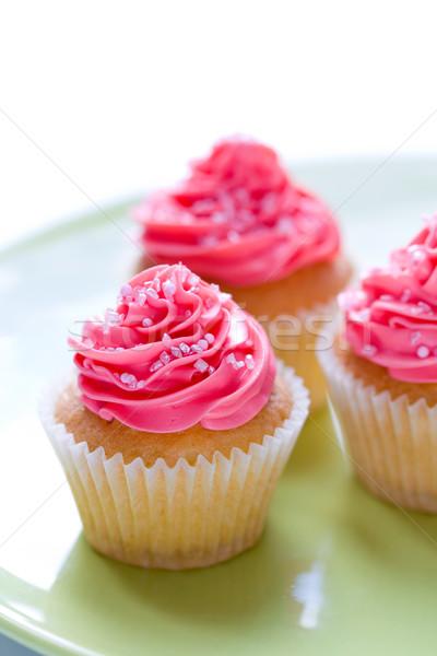Décoré rose sucre plaque sweet Photo stock © RuthBlack