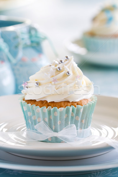 Cupcake for a baby shower Stock photo © RuthBlack