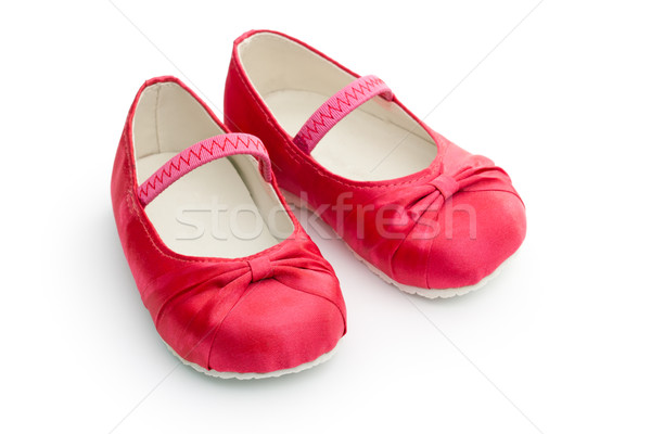 Photo stock: Rouge · satin · fille · chaussures · rose