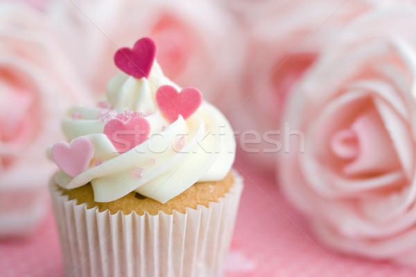 Valentin décoré rose sucre coeurs Photo stock © RuthBlack