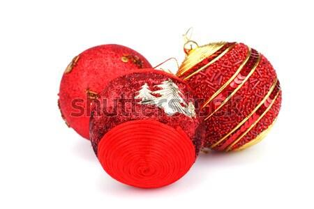 Natal vermelho isolado branco ouro Foto stock © ruzanna
