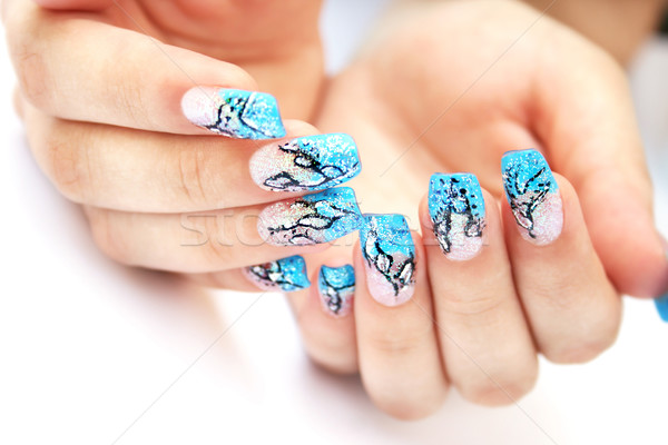 Hands with nail art Stock photo © ruzanna