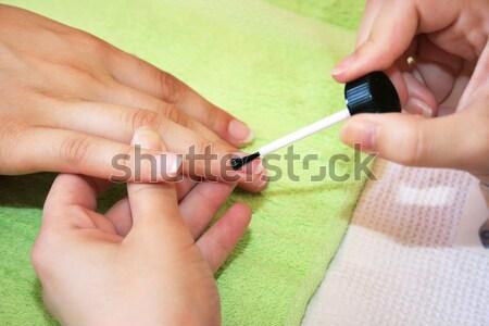 Manicura manos trabajo moda salud fondo Foto stock © ruzanna