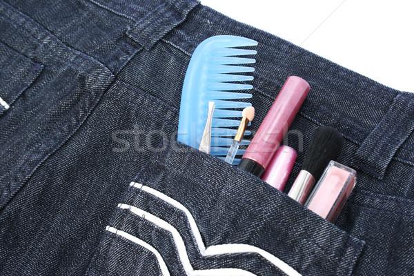 Cosmetics in jeans pocket Stock photo © ruzanna