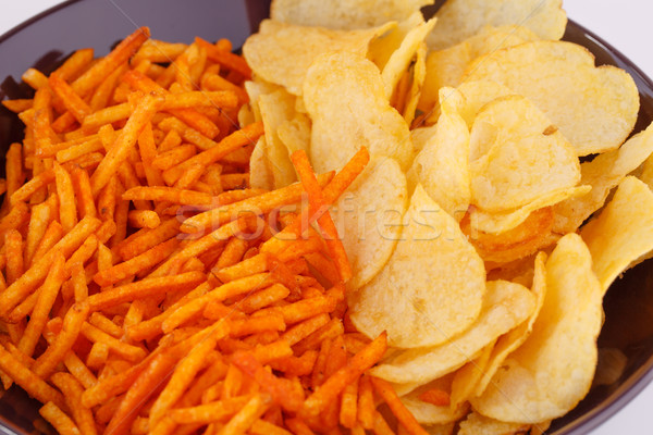 Potato chips in bowl Stock photo © ruzanna