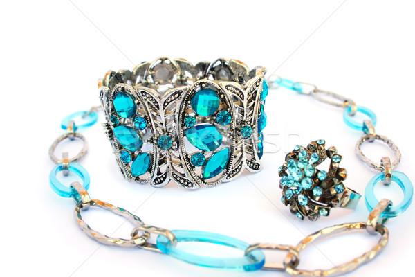 Collana bracciale anello isolato bianco abstract Foto d'archivio © ruzanna