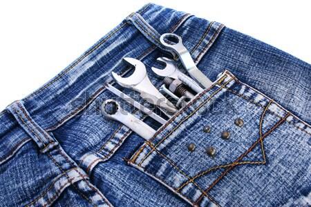 Tools in jeans pocket Stock photo © ruzanna