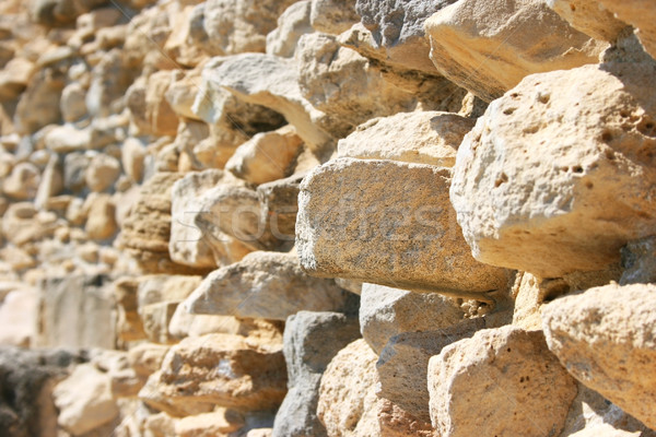 Amathus ruins wall Stock photo © ruzanna