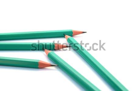 鉛筆 5 孤立した 白 木材 学校 ストックフォト © ruzanna