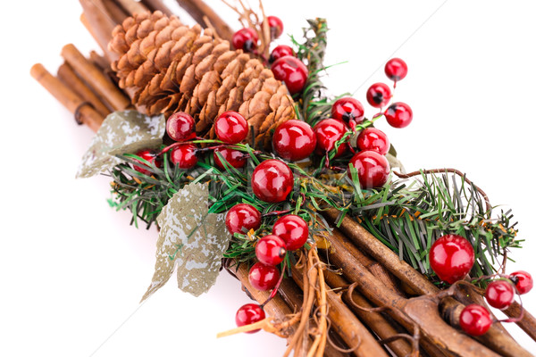 Noël décoration isolé blanche fond rouge Photo stock © ruzanna