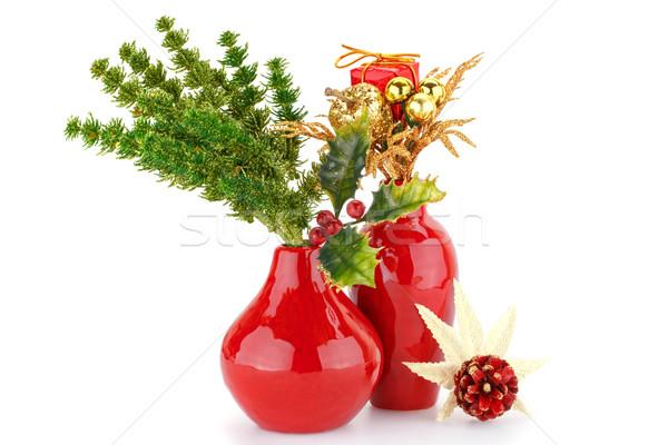 クリスマス 装飾 赤 孤立した 白 パーティ ストックフォト © ruzanna