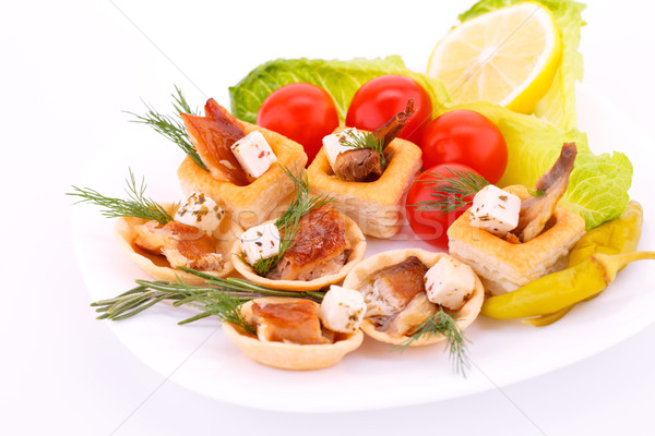 Smoked fish in pastries Stock photo © ruzanna