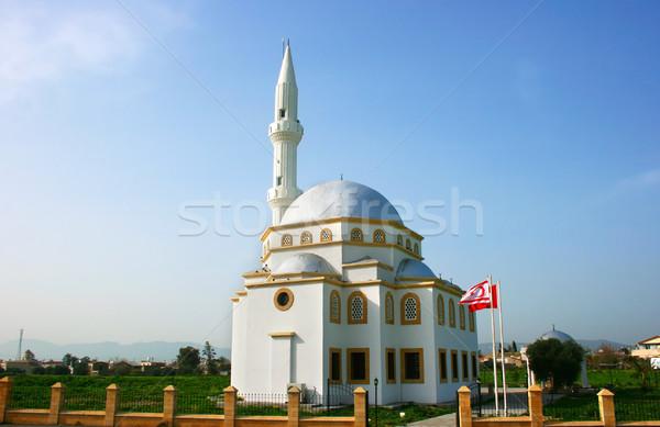 モスク 北方 キプロス 空 緑 旅行 ストックフォト © ruzanna