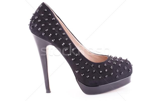 Negro zapato aislado blanco moda belleza Foto stock © ruzanna