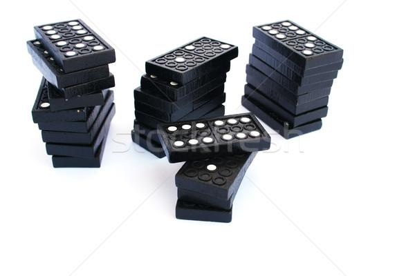 Blocos isolado branco fundo preto cadeia Foto stock © ruzanna