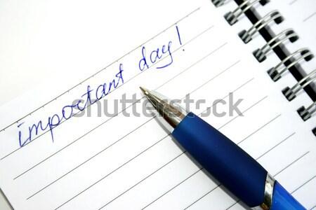 Blue pen and note book Stock photo © ruzanna