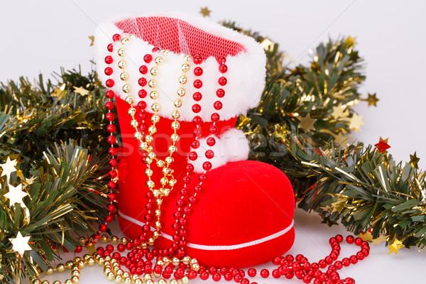 クリスマス 装飾 赤 ブート 緑 花輪 ストックフォト © ruzanna
