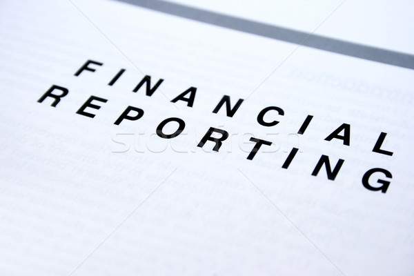 Financial reporting Stock photo © ruzanna
