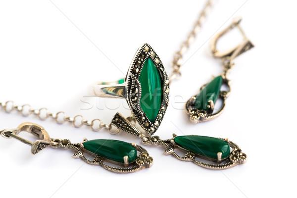 ювелирных набор ожерелье кольца природного Сток-фото © ruzanna